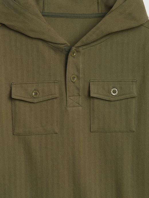 Erkek Çocuk Yeşil Kapüşonlu Sweatshirt