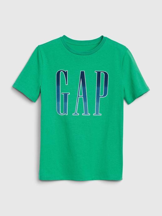 Erkek Çocuk Yeşil Gap Logo Kısa Kollu T-shirt