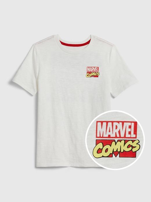 Erkek Çocuk Beyaz Marvel Kısa Kollu Grafik T-Shirt