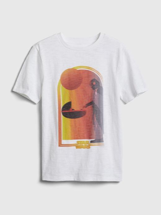 Erkek Çocuk Beyaz StarWars Grafik T-Shirt