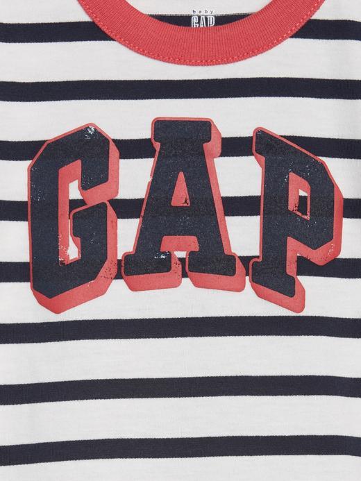 Erkek Bebek Beyaz Gap Logo Kısa Kollu Body