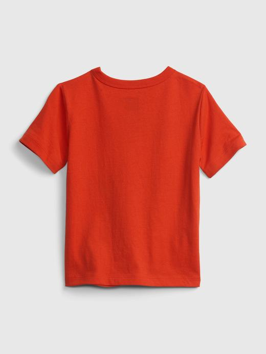 Erkek Bebek Kırmızı Organik Pamuklu Grafik T-Shirt