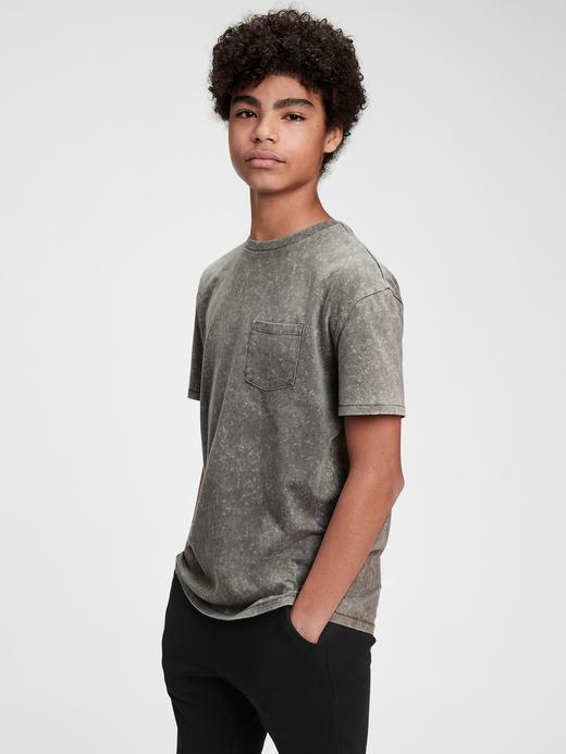 Genç Erkek Gri Genç Erkek | Kısa Kollu Cepli T-Shirt