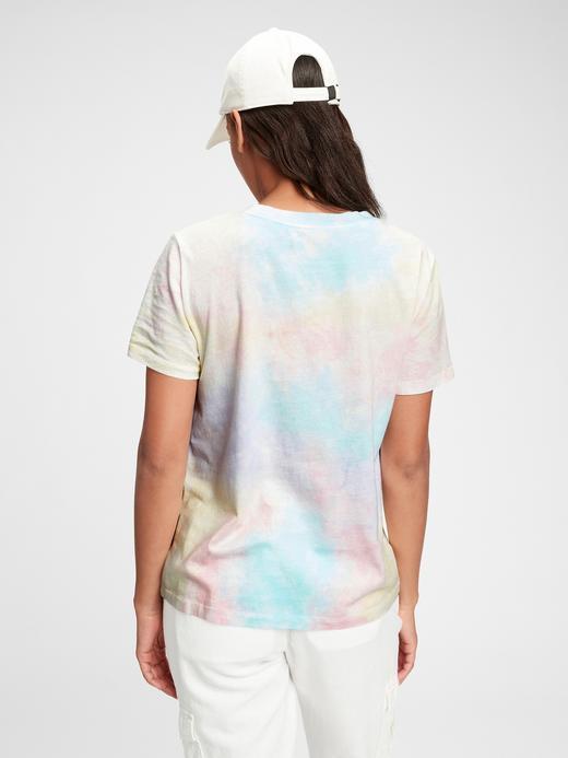 Kadın Pembe Vintage Tie-Dye T-Shirt