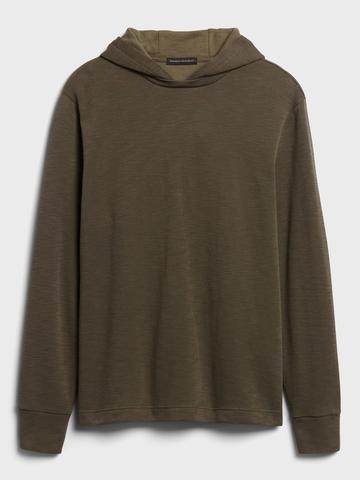 Erkek Yeşil Kapüşonlu Sweatshirt