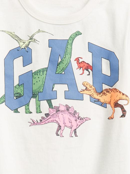 Erkek Bebek Beyaz Gap Logo Kısa Kollu T-shirt