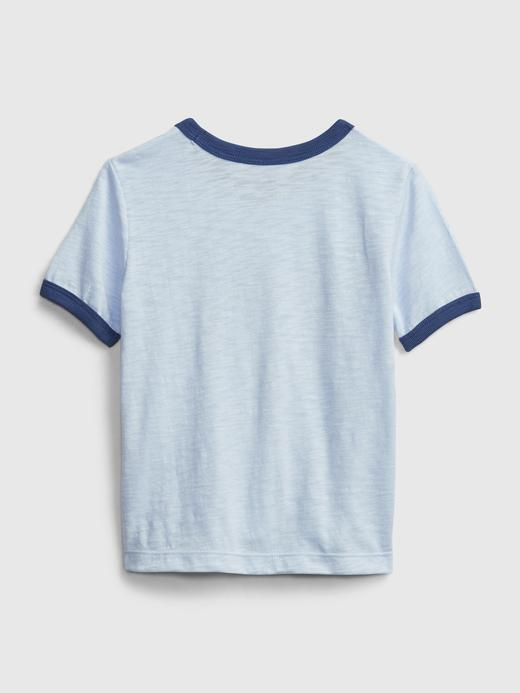 Erkek Bebek Mavi Disney Mickey Mouse Grafik T-Shirt