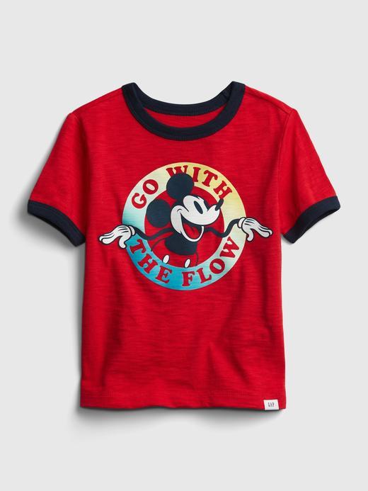 Erkek Bebek Kırmızı Disney Mickey Mouse Grafik T-Shirt