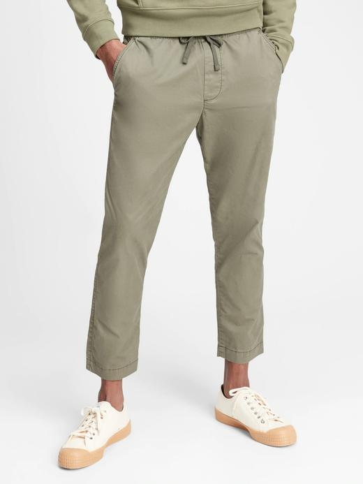 Erkek Yeşil Saf Pamuklu Easy Pantolon