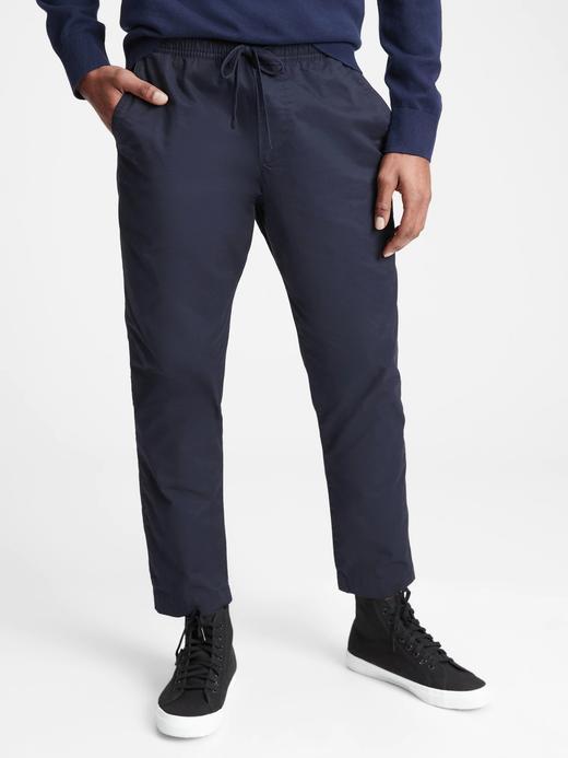 Erkek Lacivert Saf Pamuklu Easy Pantolon