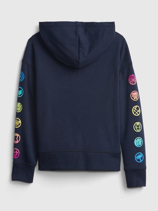 Erkek Çocuk Lacivert Marvel Kapüşonlu Sweatshirt