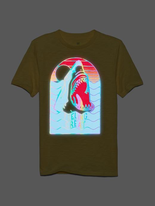 Erkek Çocuk Sarı Kısa Kollu Grafik T-Shirt