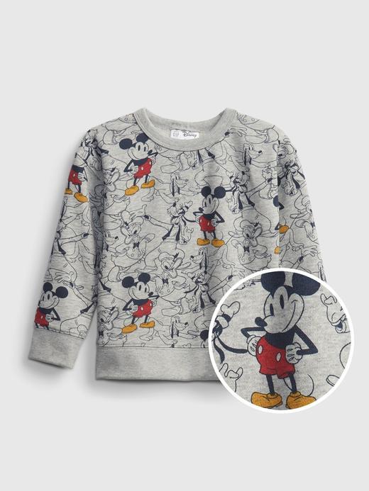 Erkek Bebek Gri Disney Mickey Mouse Grafik Sweatshirt