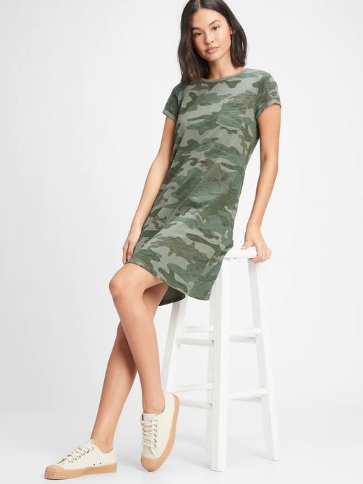 Kadın Yeşil Cepli Kısa Kollu Elbise