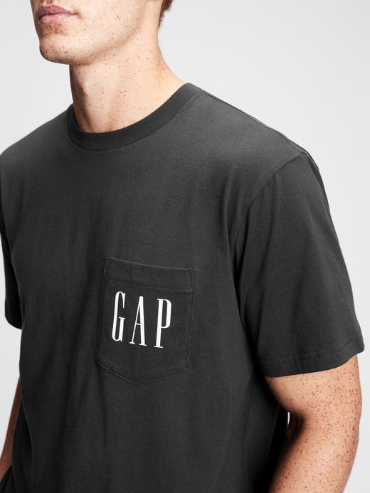 Erkek Siyah Gap Logo Cepli T-Shirt