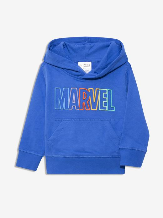 Erkek Bebek Mavi Marvel Kapüşonlu Sweatshirt