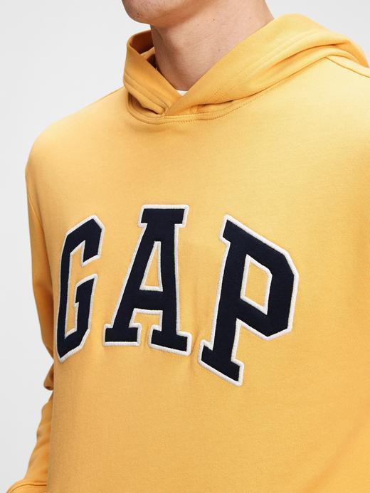 Erkek Sarı Gap Logo Kapüşonlu Sweatshirt
