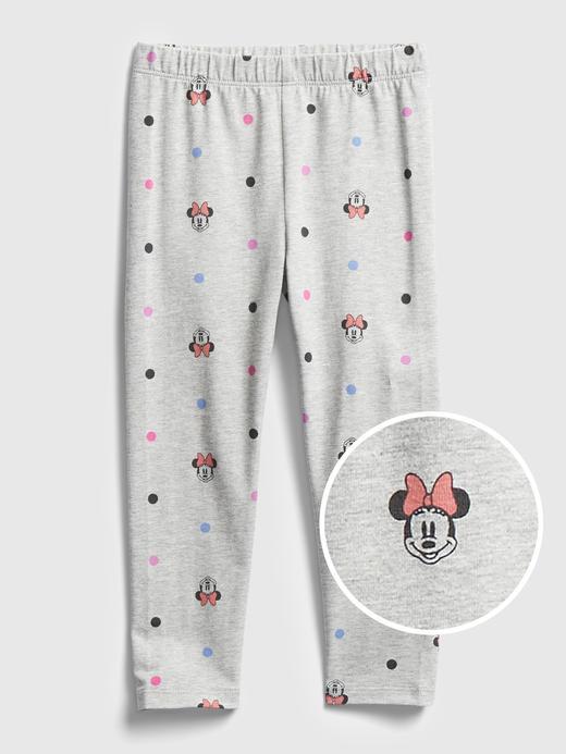 Kız Bebek Beyaz Disney Minnie Mouse Desenli Tayt