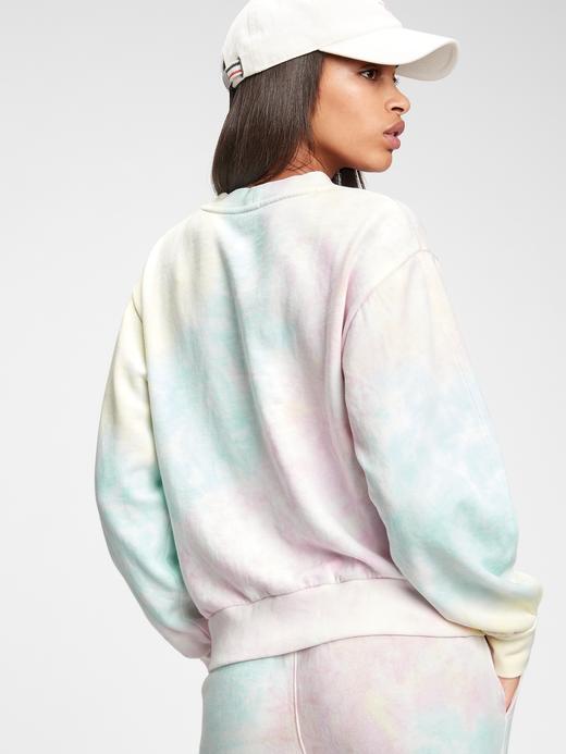 Kadın Beyaz Balon Kollu Yuvarlak Yaka Sweatshirt