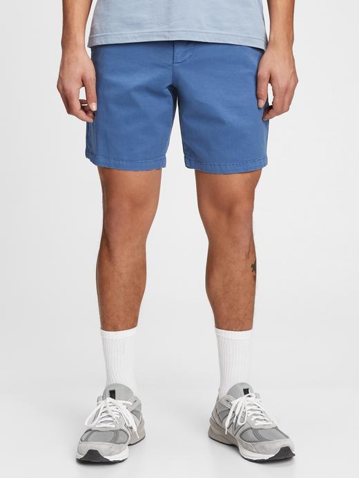 Erkek Mavi Vintage Şort