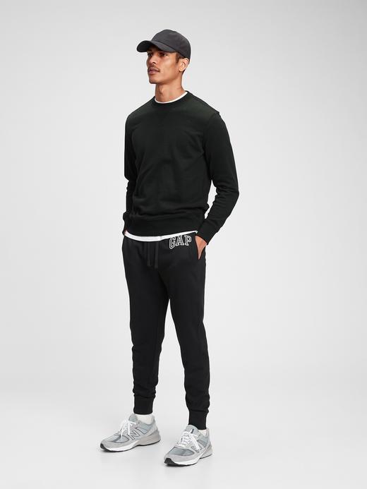 Erkek Siyah Gap Logo Jogger Eşofman Altı