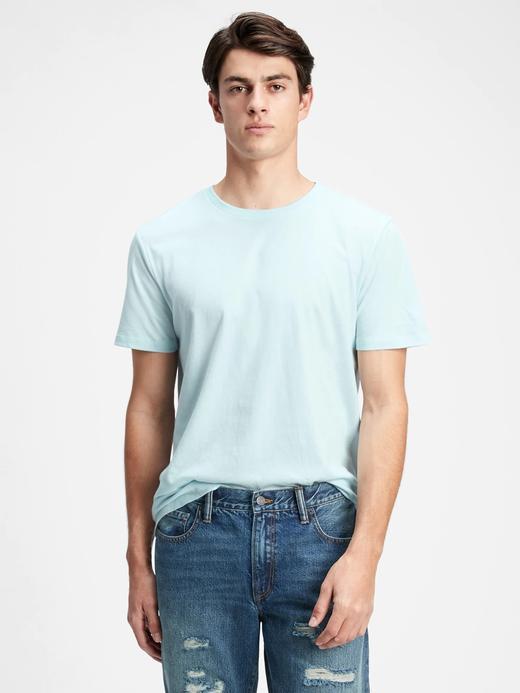 Erkek Mavi Kısa Kollu T-Shirt