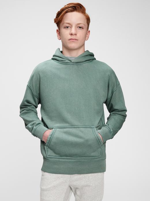Genç Erkek Yeşil Teen Kapüşonlu Sweatshirt