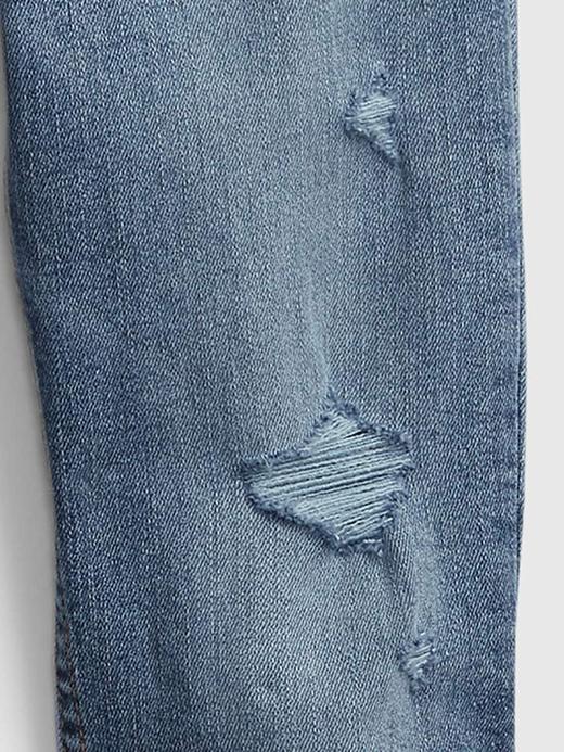 Genç Kız Mavi Genç Kız   Teen Sky High Rise Skinny Jean Pantolon