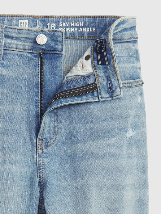 Genç Kız Mavi Genç Kız | Teen Sky High Rise Skinny Ankle Jean Pantolon