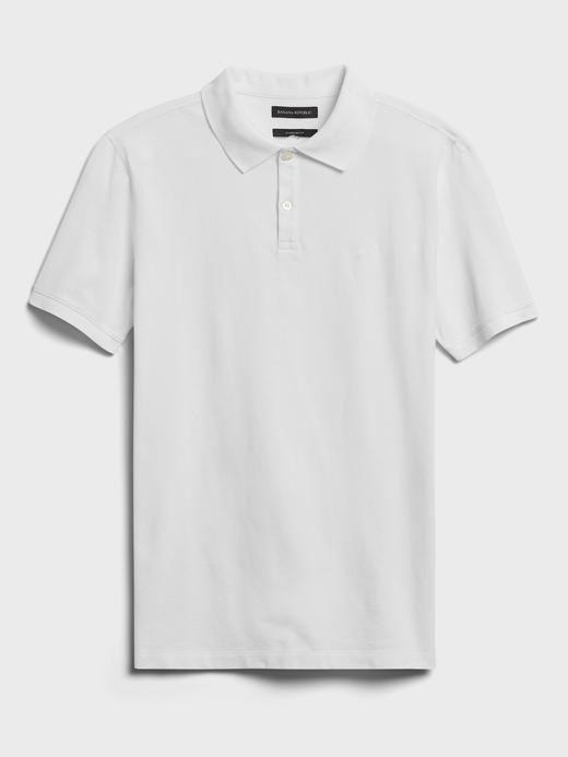 Erkek beyaz Pique Polo Yaka T-Shirt