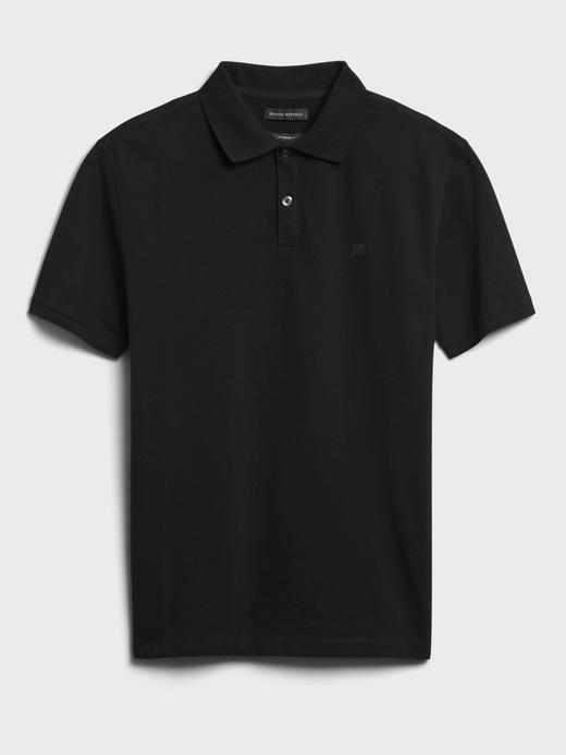 Erkek Siyah Pique Polo Yaka T-Shirt