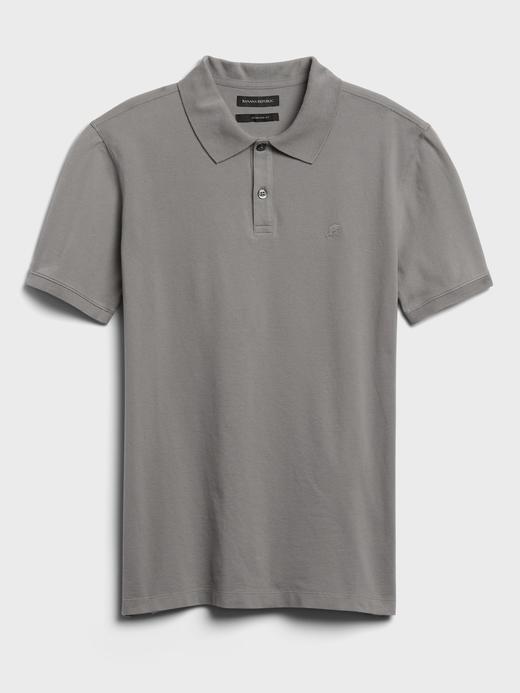 Erkek Gri Pique Polo Yaka T-Shirt
