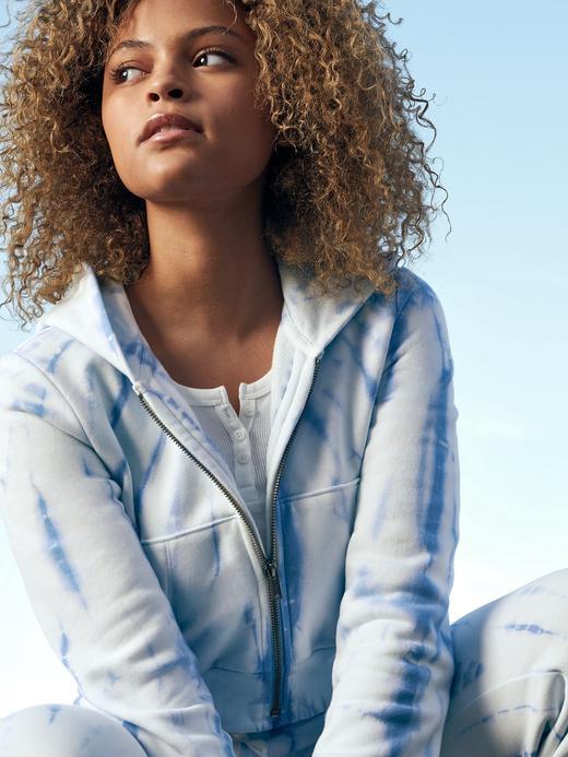 Genç Kız Mavi Genç Kız | Teen Tie-Dye Kapüşonlu Sweatshirt