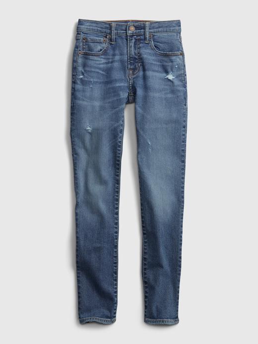 Genç Erkek Mavi Teen Stacked Ankle Skinny Jean Pantolon