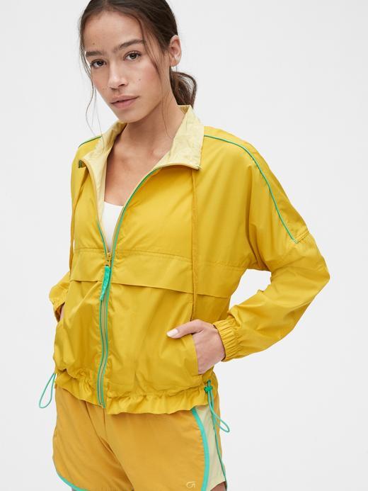 Kadın Sarı GapFit Lighweight Rüzgarlık