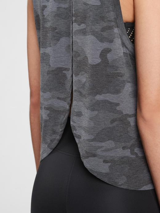 Kadın Gri GapFit Sırt Detaylı Bluz
