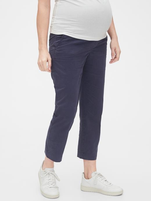 Lacivert Maternity Straight Pantolon
