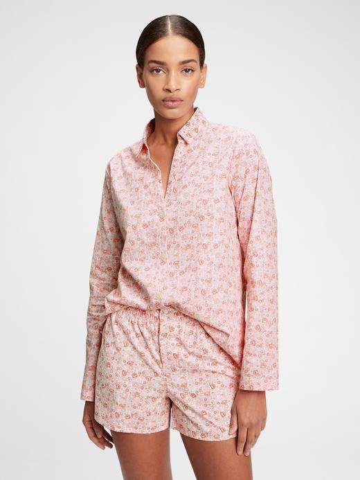 Kadın Pembe Poplin Pijama Üstü