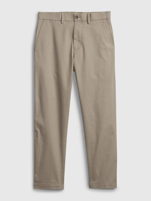 Erkek Bej GapFlex Slim Cropped Pantolon