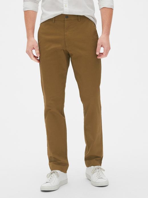 Erkek Kahverengi Slim Khaki Pantolon