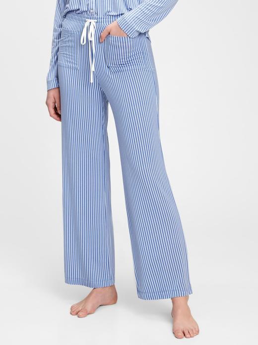 Kadın Mavi Modal Karışımlı Pijama Altı