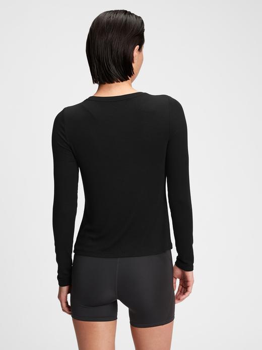 Kadın Pembe GapFit Supersoft Bluz
