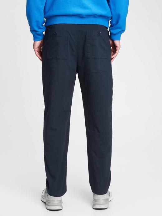 Erkek Lacivert GapFlex Relaxed Taper Pantolon