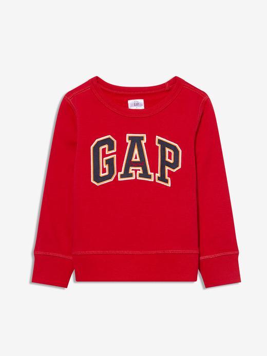 Erkek Bebek Kırmızı Gap Logo Yuvarlak Yaka Sweatshirt