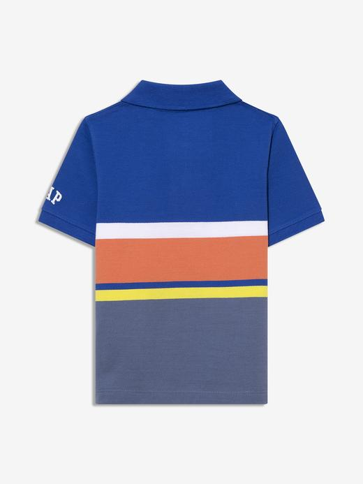 Erkek Bebek Lacivert Renk Bloklu Polo Yaka T-Shirt