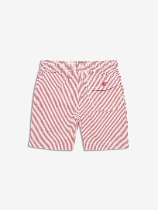 Erkek Bebek Kırmızı Çizgili Chino Şort