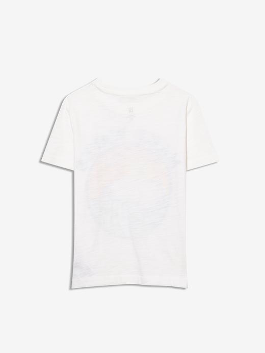 Erkek Bebek Beyaz Kısa Kollu Grafik T-Shirt