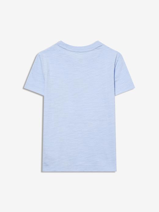 Erkek Bebek Mavi Kısa Kollu Grafik T-Shirt