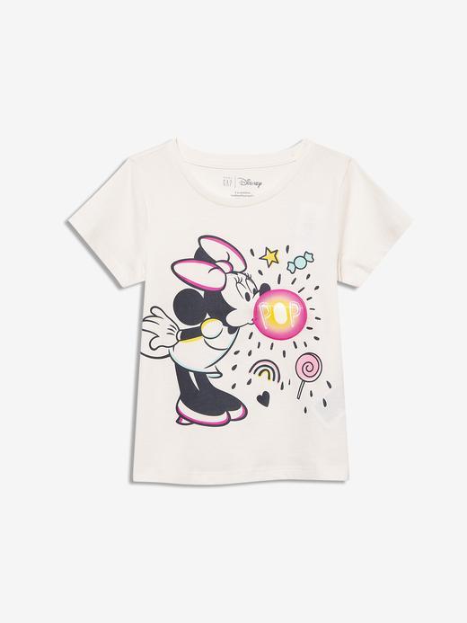 Kız Bebek Beyaz Disney Minnie Mouse Grafik T-Shirt
