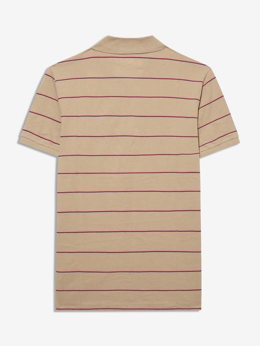 Erkek Bej Pique Polo Yaka T-Shirt